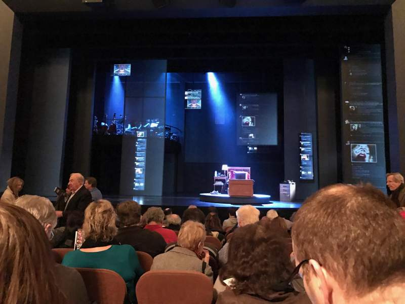 Seating view for Music Box Theatre Section Orchestra C Row L Seat 105