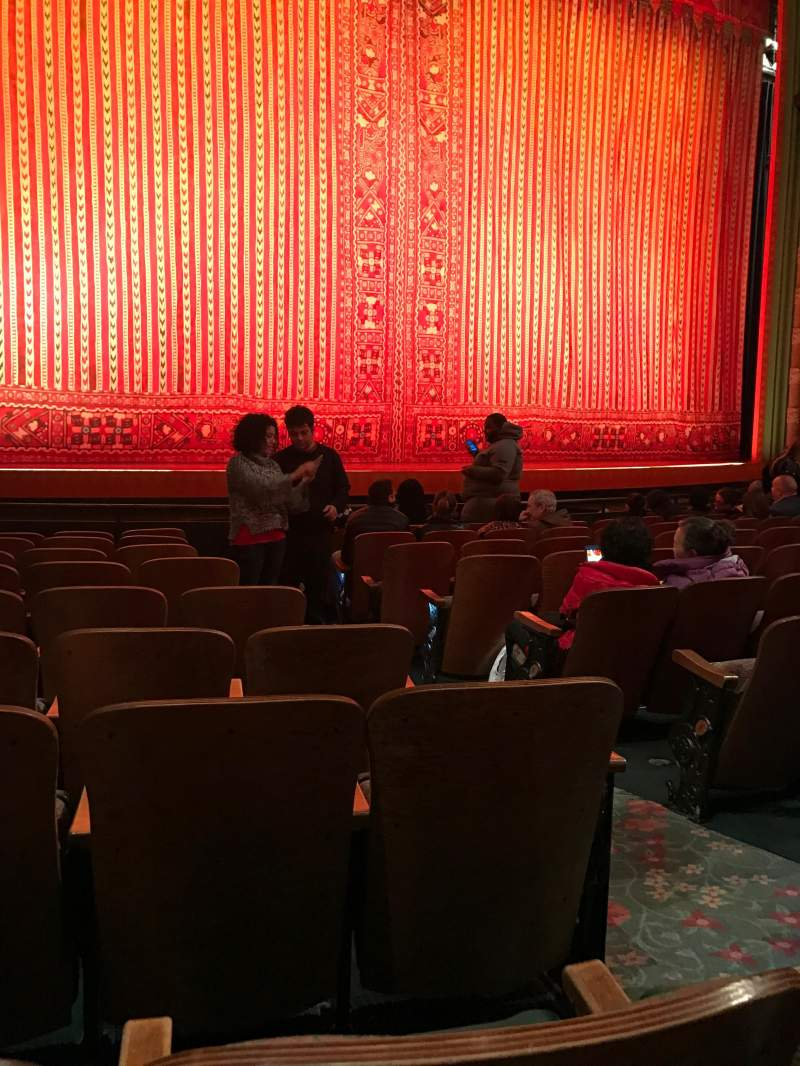 Seating view for New Amsterdam Theatre Section Orchestra Row J Seat 5