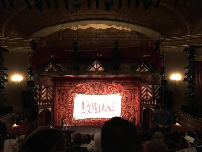 Seating view for St. James Theatre Section Mezzanine Row M Seat 107