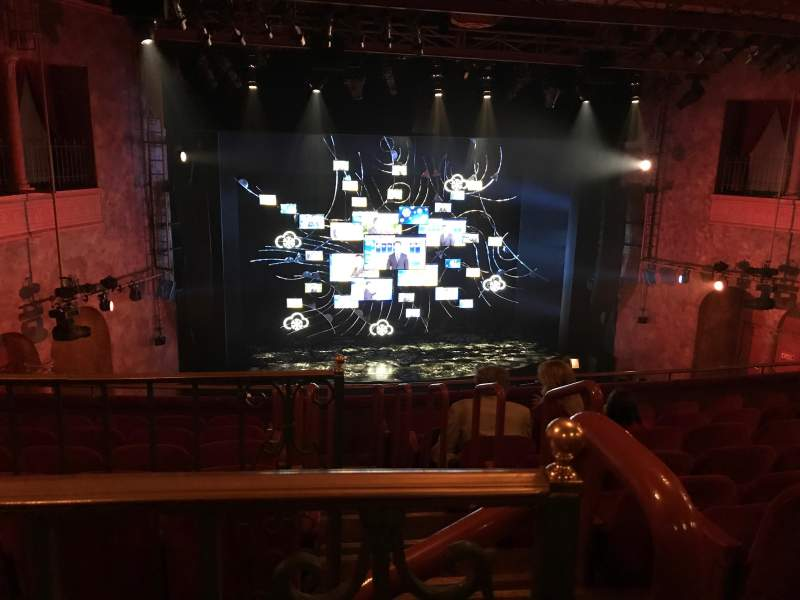 Seating view for August Wilson Theatre Section Mezzanine L Row H Seat 1