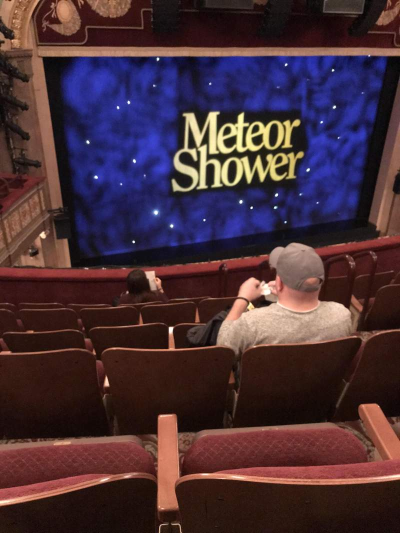 Seating view for Booth Theatre Section Mezzanine L Row F Seat 7