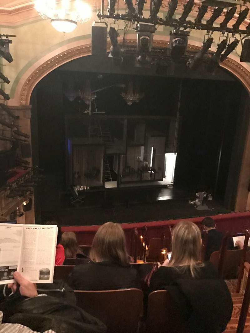 Seating view for Booth Theatre Section Mezzanine L Row G Seat 5