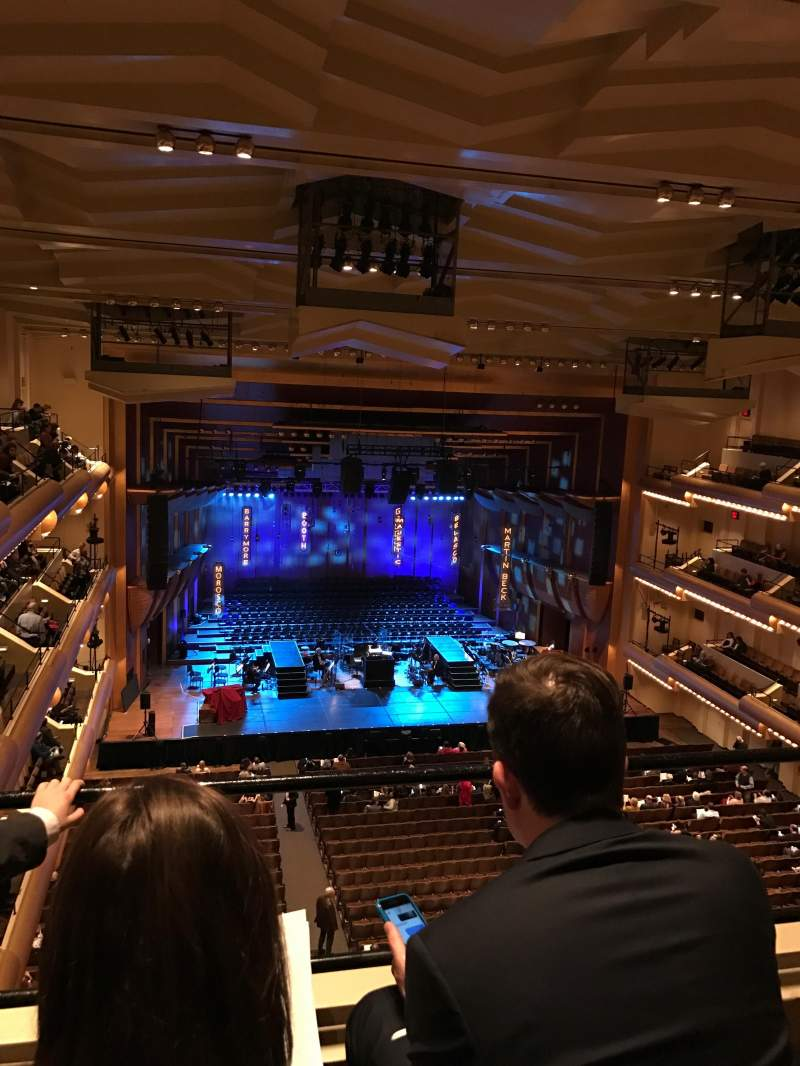Seating view for David Geffen Hall Section Third Tier Row BB Seat 11