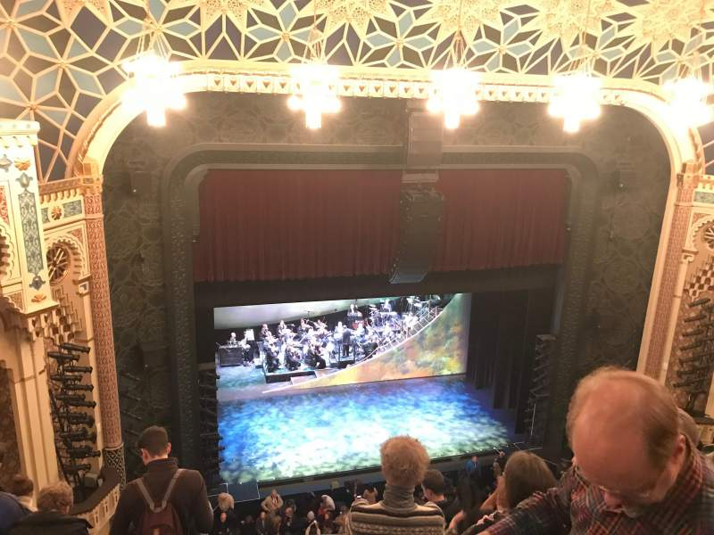 Seating view for New York City Center Section Balcony Row E Seat 119
