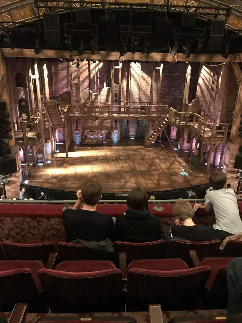 Seating view for Richard Rodgers Theatre Section Front Mezzanine C Row D Seat 112