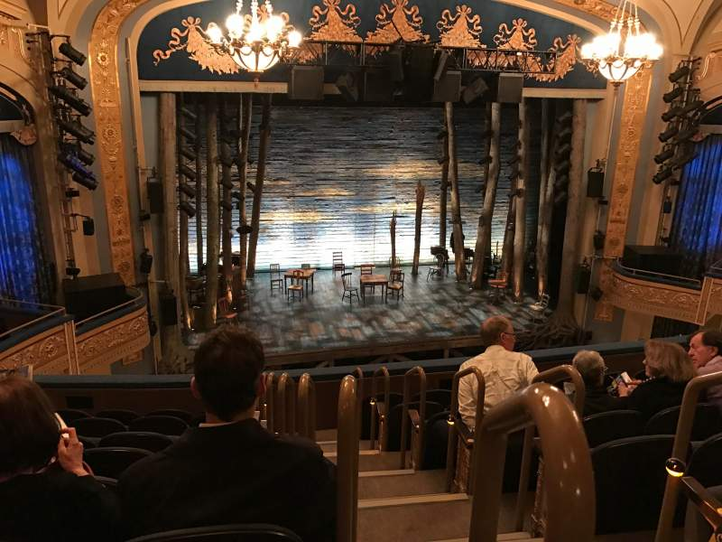 Seating view for Gerald Schoenfeld Theatre Section Mezzanine L Row H Seat 1