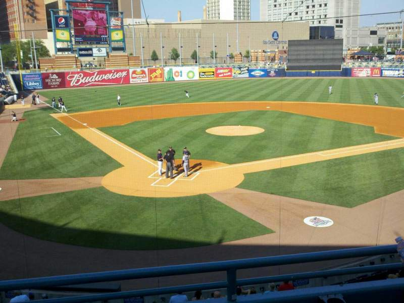 Seating view for Fifth Third Field Section 210 Row c Seat 4