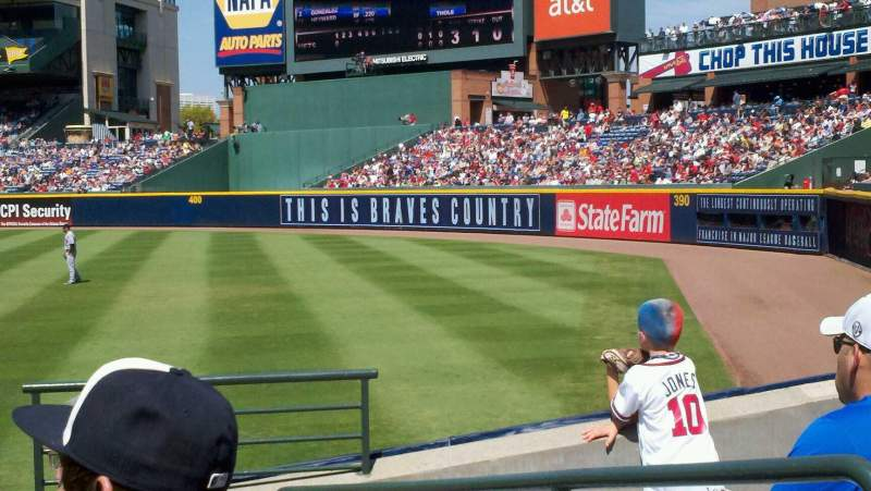 Seating view for Turner Field Section 125 Row 13 Seat 102