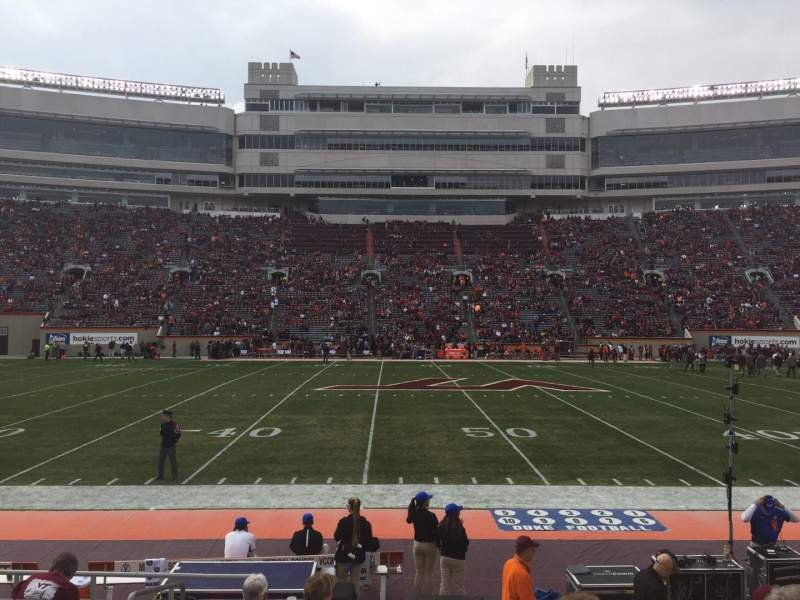 Seating view for Lane Stadium Section 11 Row K Seat 2
