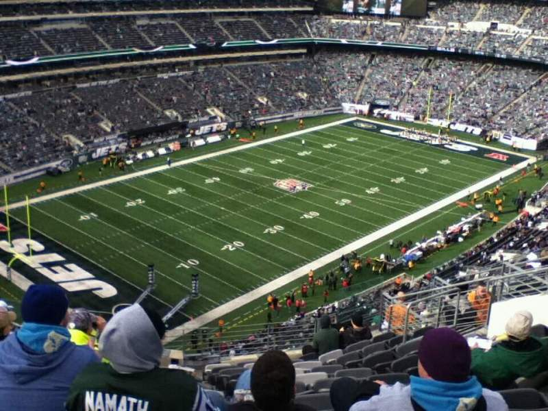 Seating view for MetLife Stadium Section 346 Row 17 Seat 8