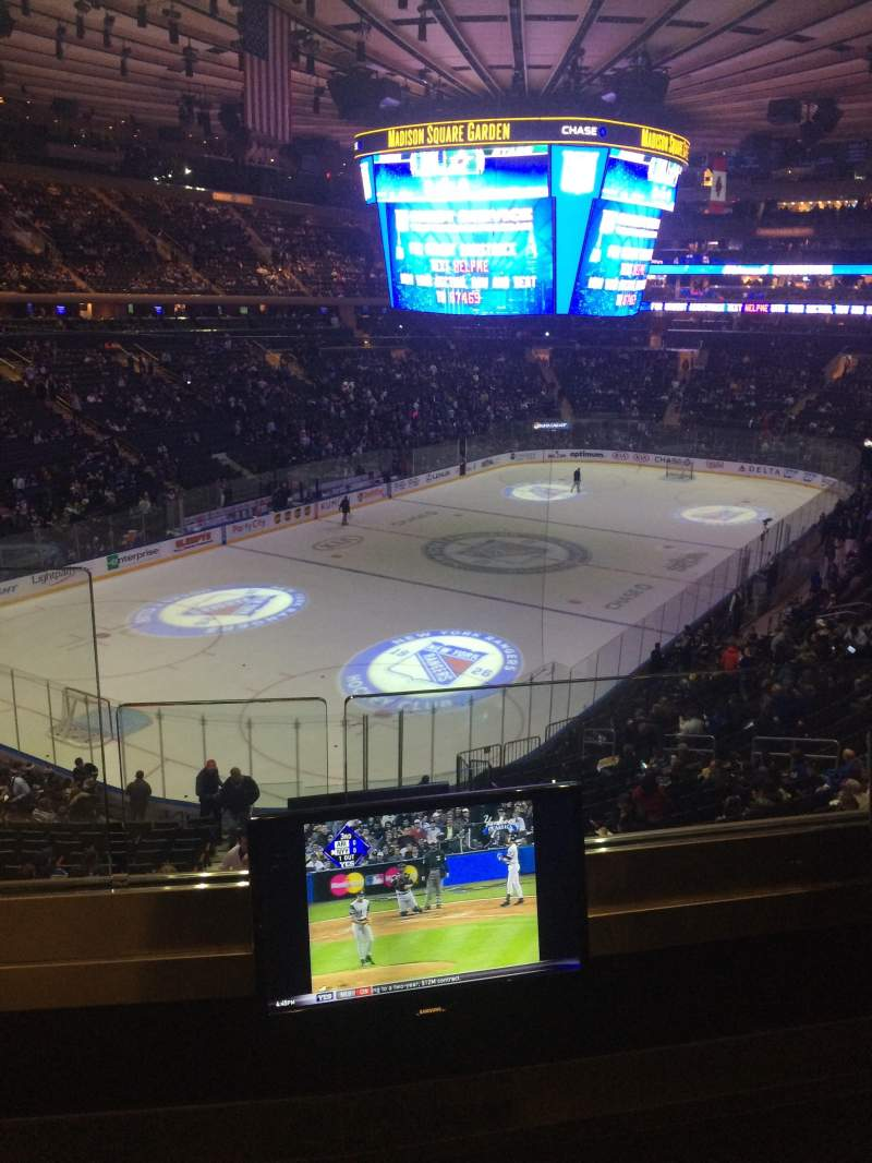 Seating view for madison square garden Section 220 Row 2 Seat 1