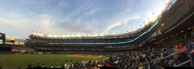 Seating view for Yankee Stadium Section 131 Row 17 Seat 4