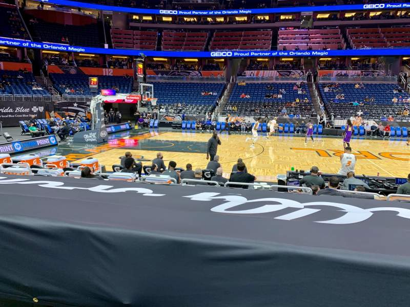 Seating view for Amway Center Section 106 Row 8 Seat 8