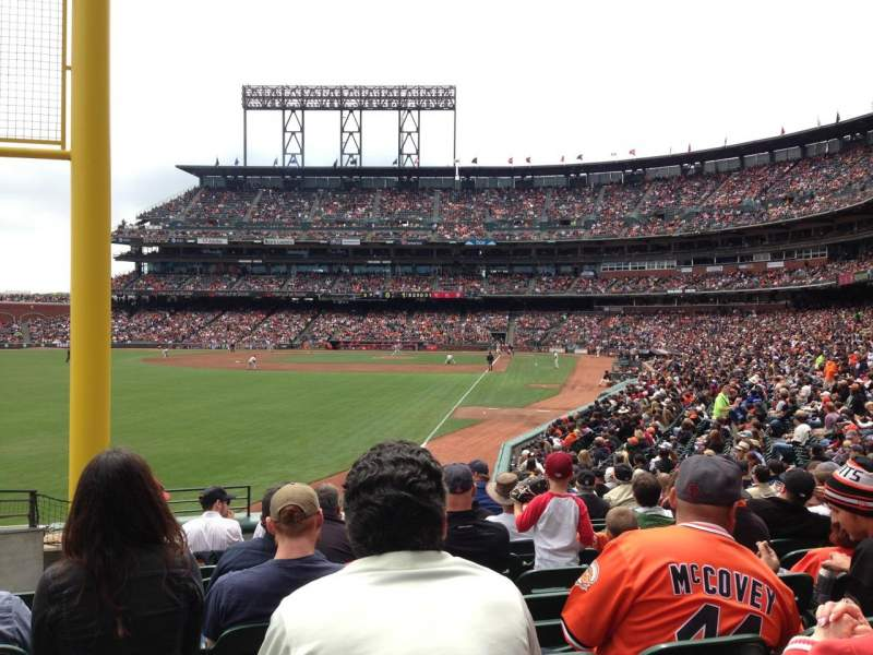 Seating view for AT&T Park Section 135 Row 21 Seat 16
