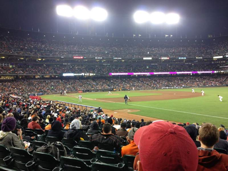 Seating view for AT&T Park Section 102 Row 19 Seat 8