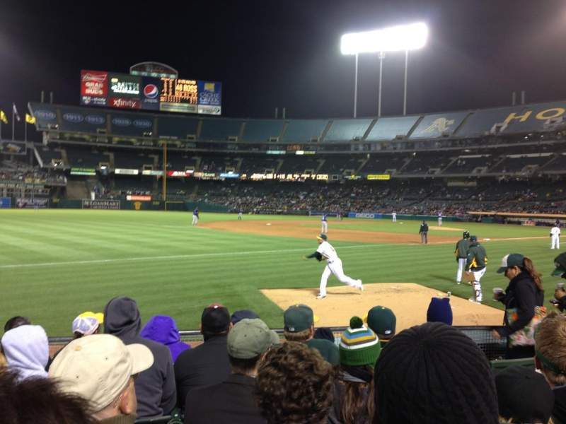 Seating view for Oakland Alameda Coliseum Section 127 Row 6 Seat 9