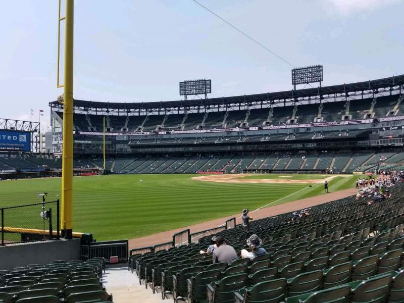 Seating view for Guaranteed Rate Field Section 155 Row 20 Seat 1