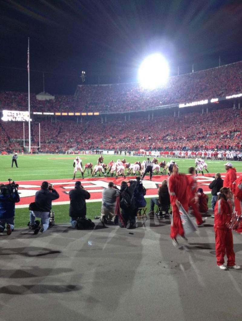 Seating view for Ohio Stadium Section 37AA Row 1 Seat 20