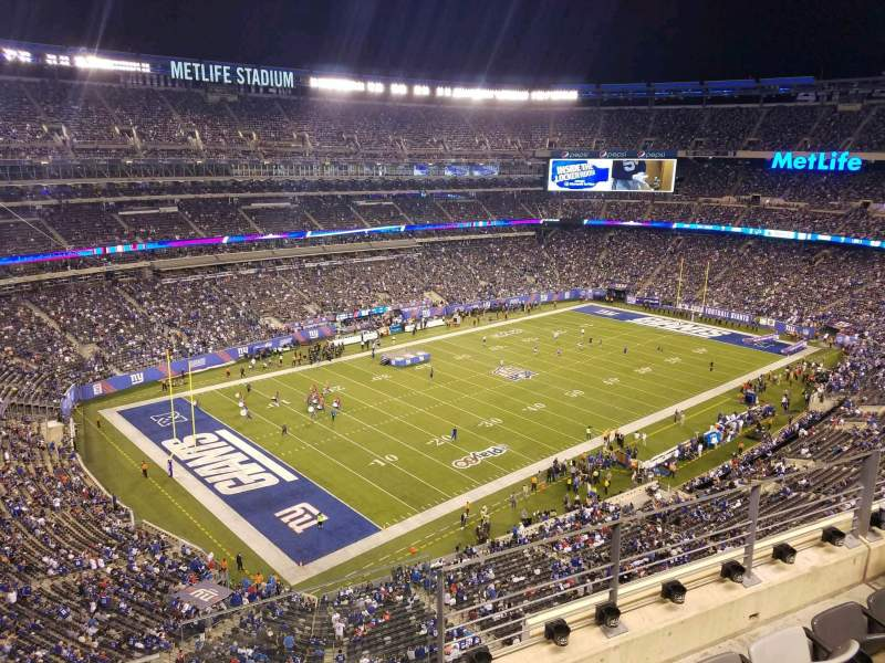 Seating view for MetLife Stadium Section 320 Row 4 Seat 1