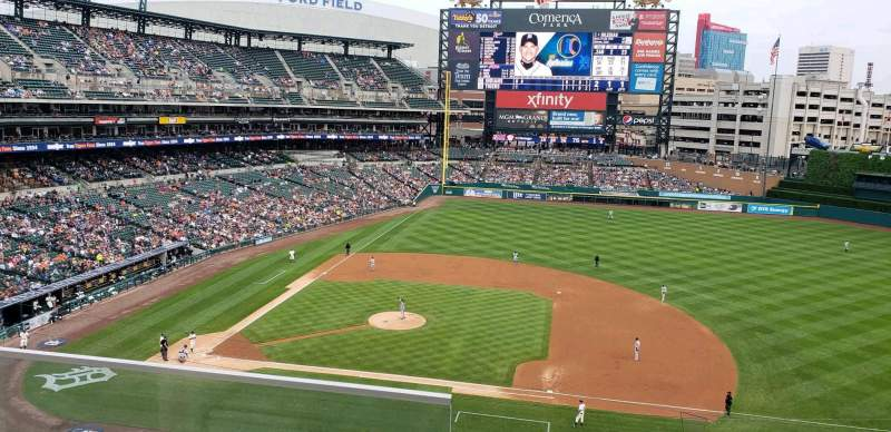 Seating view for Comerica Park Section 321 Row B Seat 15