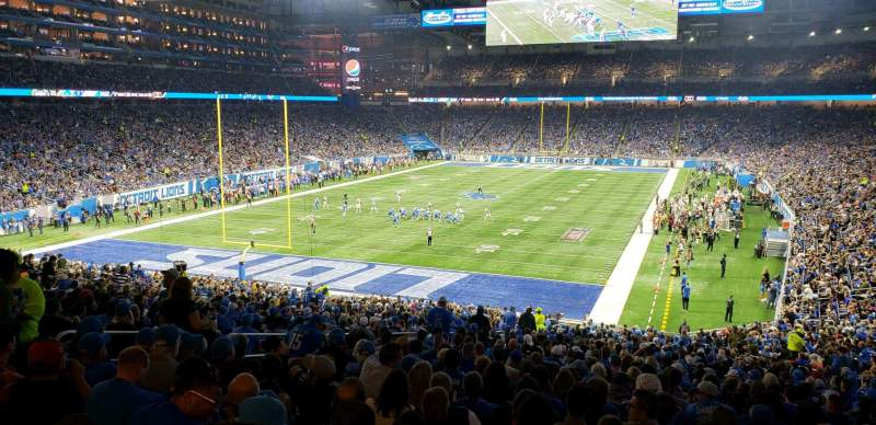 Seating view for Ford Field Section 119 Row ADA Seat 8