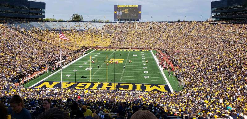 Seating view for Michigan Stadium Section 11 Row 88 Seat 13