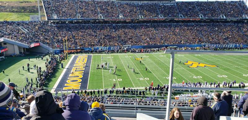 Seating view for Mountaineer Field Section 203 Row 9 Seat 2