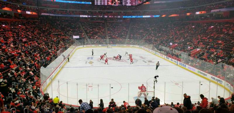 Seating view for Little Caesars Arena Section 103 Row 20 Seat 11