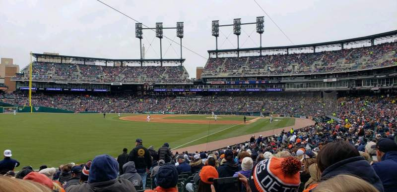 Seating view for Comerica Park Section 143 Row 29 Seat 3
