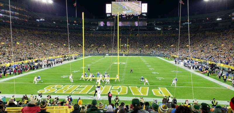 Seating view for Lambeau Field Section 137 Row 27 Seat 20
