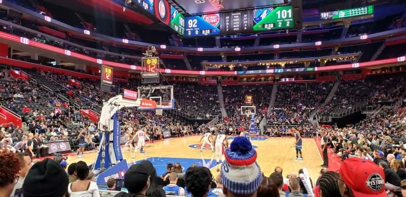 Little Caesars Arena Section 115 Row F Seat 1 Detroit Pistons Vs