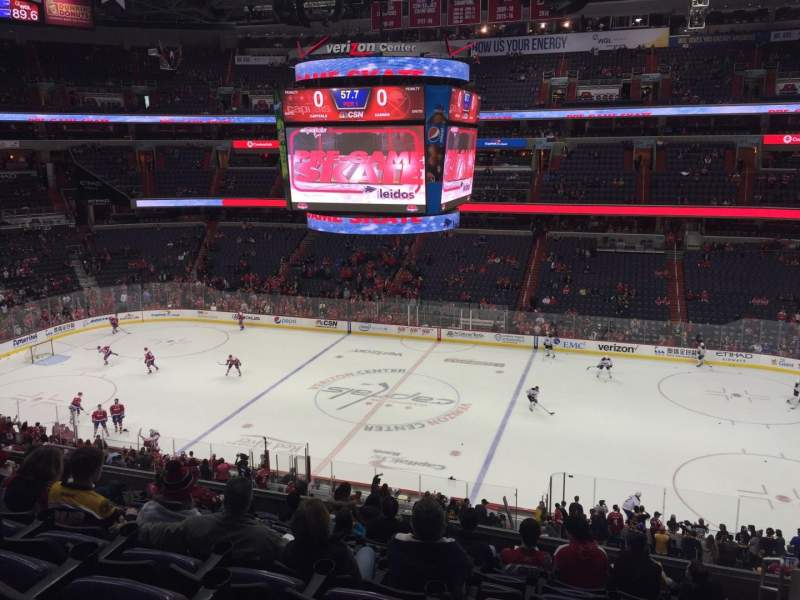 Seating view for Capital One Arena Section 201 Row L Seat 14