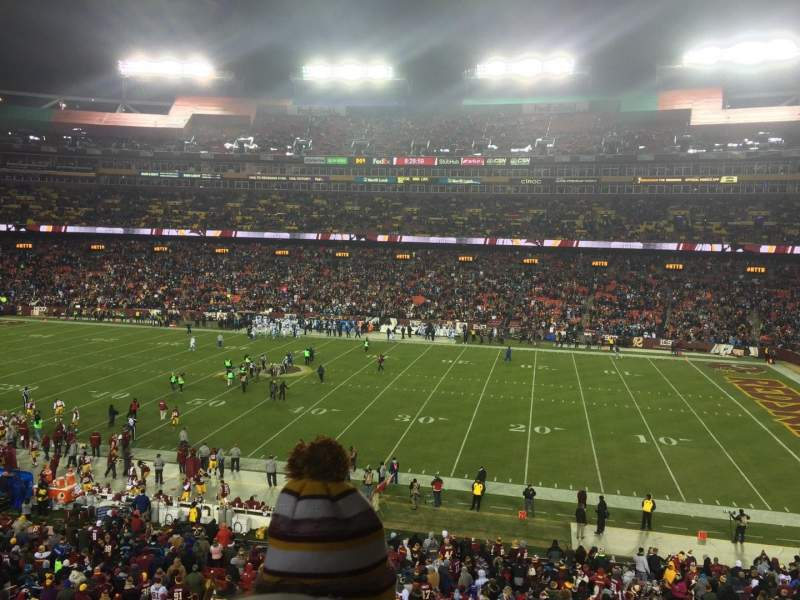 Seating view for FedEx Field Section 240 Row 2 Seat 18