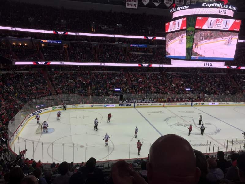 Seating view for Capital One Arena Section 213 Row G Seat 4