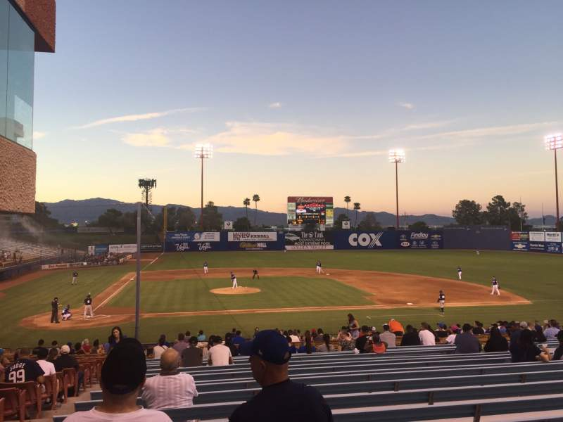 Seating view for Cashman Field Section 16 Row ZZ Seat 5-6