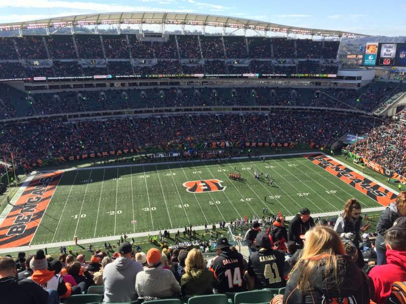 Seating view for Paul Brown Stadium Section 342 Row 25 Seat 5