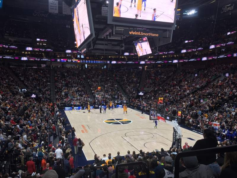 Seating view for Vivint Smart Home Arena Section 14 Row 17 Seat 1