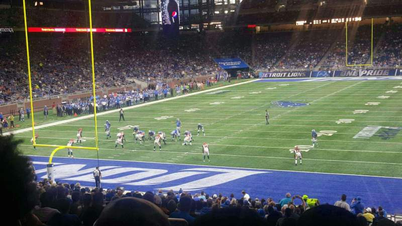 Seating view for Ford Field Section 119 Row 32 Seat 5