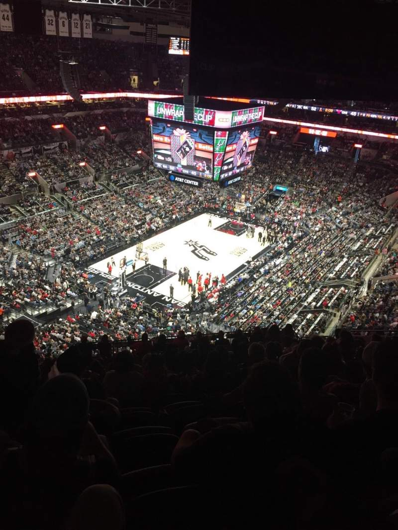 Seating view for AT&T Center Section 213 Row 16 Seat 17
