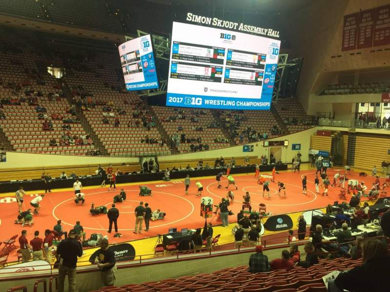Seating view for Assembly Hall (Bloomington) Section E Row 13 Seat 1
