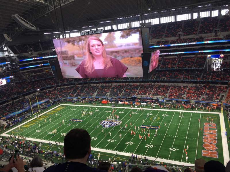 Seating view for AT&T Stadium Section 439 Row 14 Seat 8