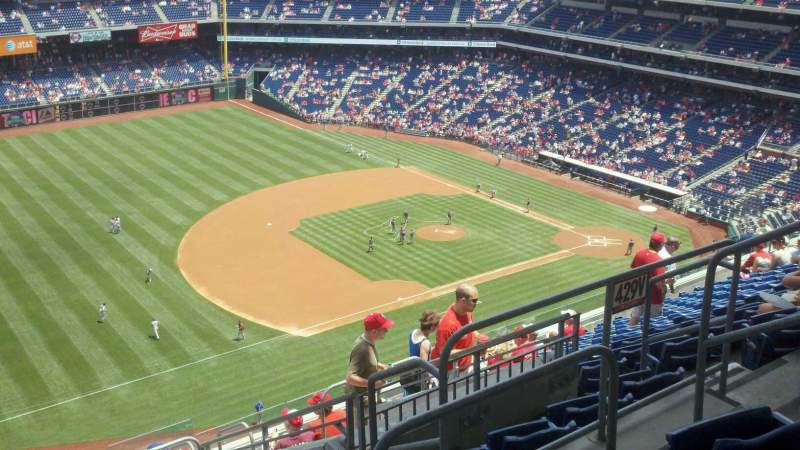 Seating view for Citizens Bank Park Section 430 Row 13 Seat 6