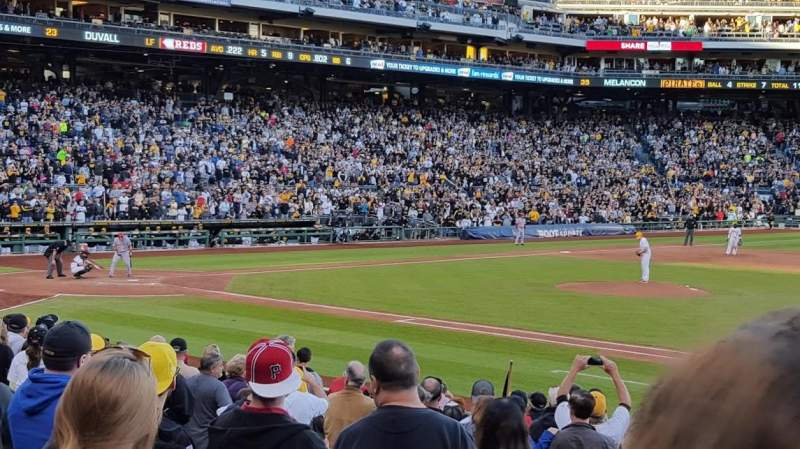 Seating view for PNC Park Section 110 Row G Seat 28