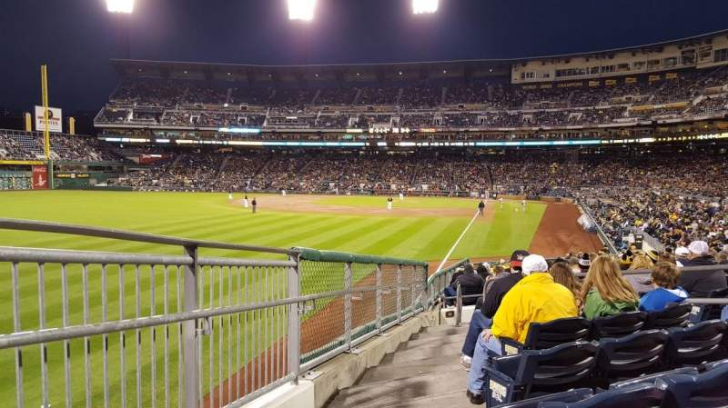 Seating view for PNC Park Section 132 Row M Seat 1