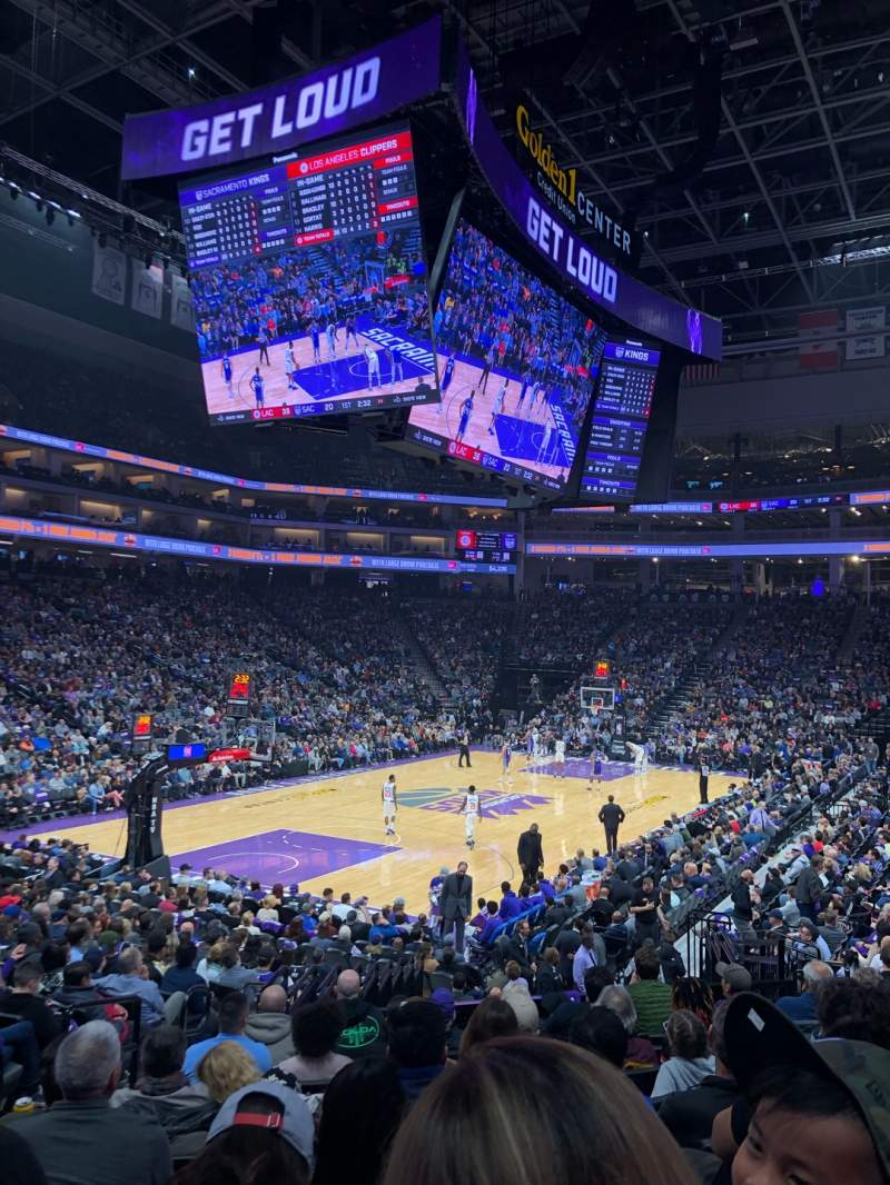 Seating view for Golden 1 Center Section 111 Row J Seat 11