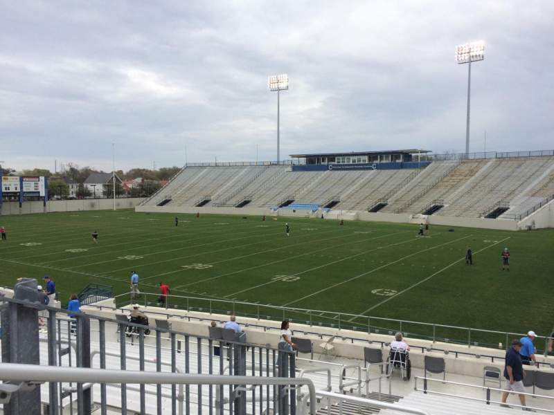 Seating view for Johnson Hagood Stadium Section A Row 21 Seat 13