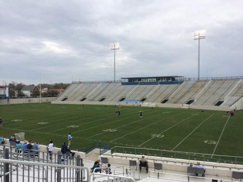 Seating view for Johnson Hagood Stadium Section B Row 22 Seat 13