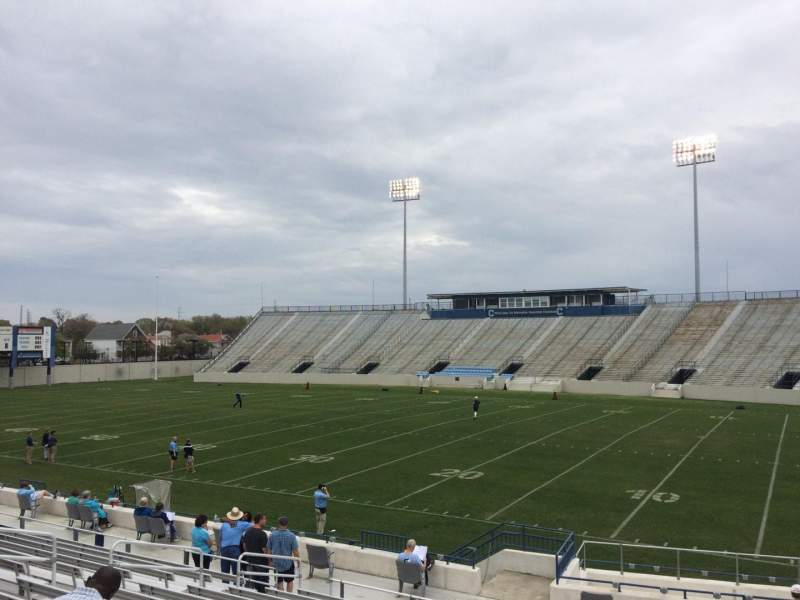 Seating view for Johnson Hagood Stadium Section C Row 19 Seat 5