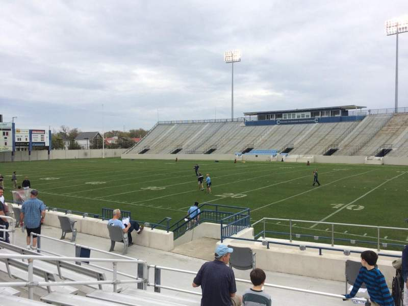Seating view for Johnson Hagood Stadium Section C Row 10 Seat 1