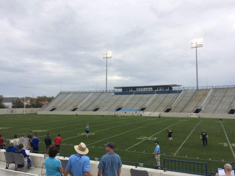 Seating view for Johnson Hagood Stadium Section D Row 7 Seat 15